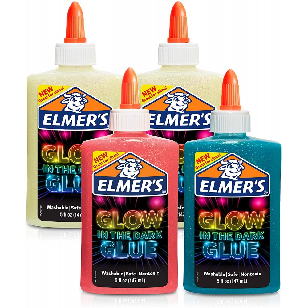 Elmer's Glow in the Dark Glue - Washable, great for art craft and slime making