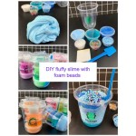 DIY Fluffy Slime with Foam Beads